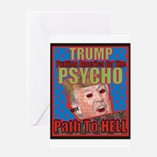 Psycho Trump Greeting Cards