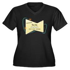 Instant Bank Teller Women's Plus Size V-Neck Dark