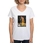Fairies / Papillon (f) Women's V-Neck T-Shirt