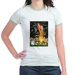 Fairies / Papillon (f) Jr. Ringer T-Shirt