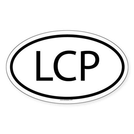 LCP Oval Sticker