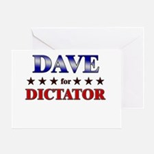 DAVE for dictator Greeting Card