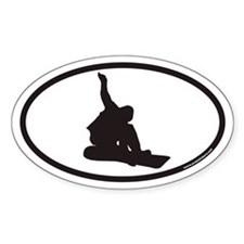 Snowboarding Euro Oval Decal