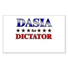 DASIA for dictator Rectangle Decal
