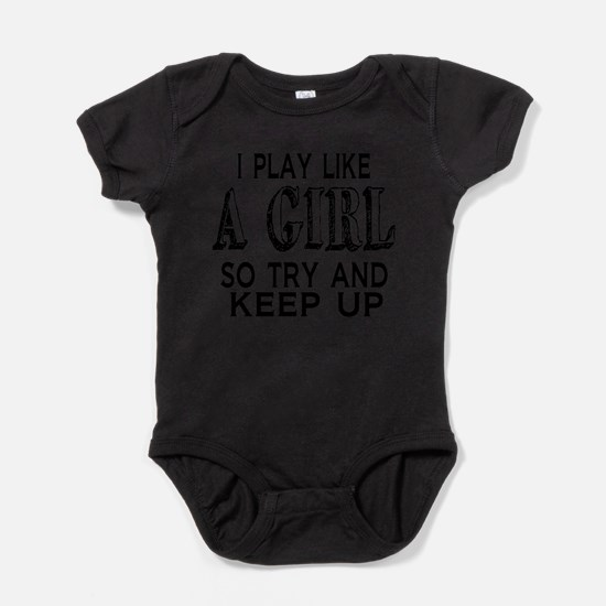 Cute Womens soccer Baby Bodysuit