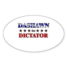 DASHAWN for dictator Oval Decal