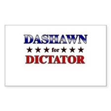 DASHAWN for dictator Rectangle Decal