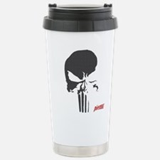 Punisher Skull Grid Stainless Steel Travel Mug