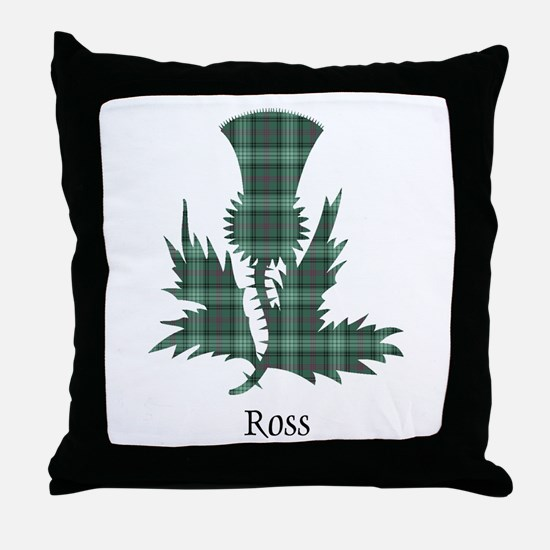 Thistle-Ross hunting Throw Pillow