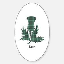 Thistle-Ross hunting Sticker (Oval)