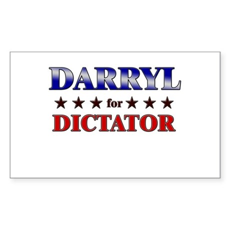 DARRYL for dictator Rectangle Sticker