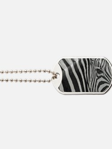 Cute Zebra stripes Dog Tags