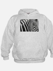 Zebra in Black and White Hoodie