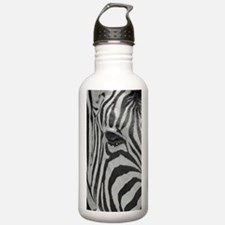 Zebra in Black and Whi Water Bottle
