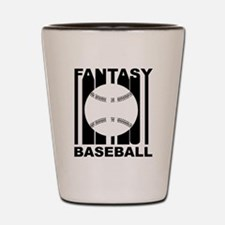 Retro Fantasy Baseball Shot Glass