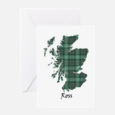 Map-Ross hunting Greeting Card