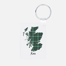 Map-Ross hunting Aluminum Photo Keychain