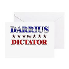 DARRIUS for dictator Greeting Card