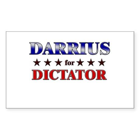 DARRIUS for dictator Rectangle Sticker
