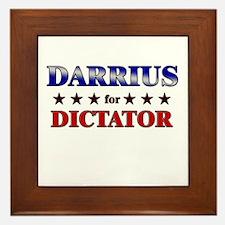DARRIUS for dictator Framed Tile