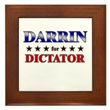 DARRIN for dictator Framed Tile