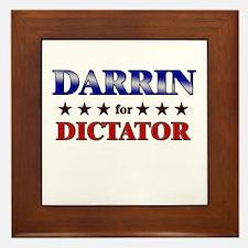 DARRIN for dictator Framed Tile