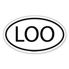 LOO Oval Decal