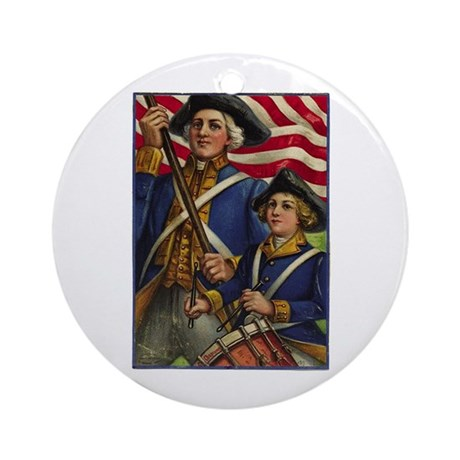 4th of July 3 Ornament (Round)