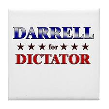 DARRELL for dictator Tile Coaster