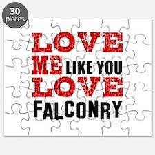 Love Me Like You Love Falconry Puzzle