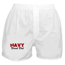Navy Dad (red) Boxer Shorts