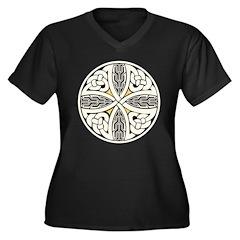 Celtic Knot Women's Plus Size V-Neck Dark T-Shirt