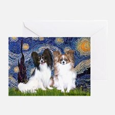 Starry / 2 Papillons Greeting Cards (Pk of 20)