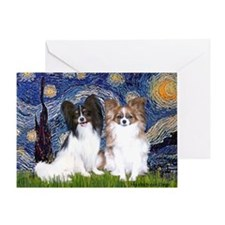Starry / 2 Papillons Greeting Card