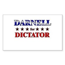 DARNELL for dictator Rectangle Decal