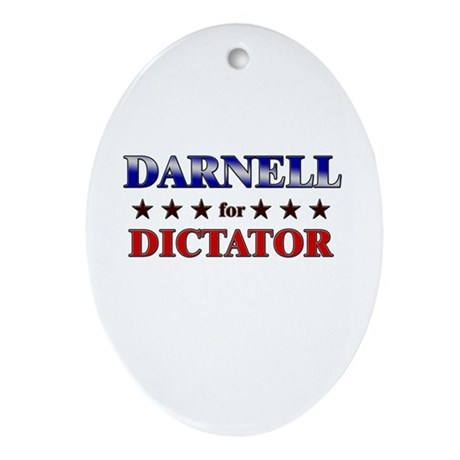 DARNELL for dictator Oval Ornament