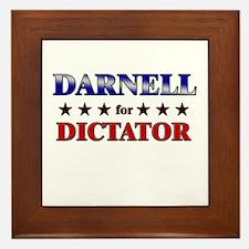 DARNELL for dictator Framed Tile