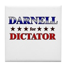 DARNELL for dictator Tile Coaster