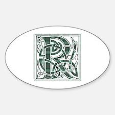 Monogram-Ross hunting Sticker (Oval)