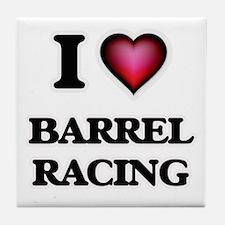 I Love Barrel Racing Tile Coaster