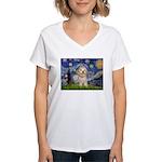Starry / Havanese Women's V-Neck T-Shirt