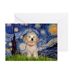 Starry / Havanese Greeting Cards (Pk of 20)