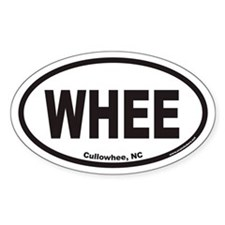 Cullowhee WHEE Euro Oval Decal