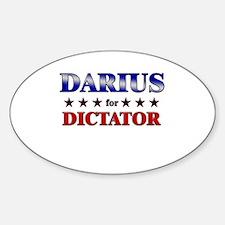 DARIUS for dictator Oval Decal