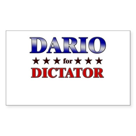 DARIO for dictator Rectangle Sticker