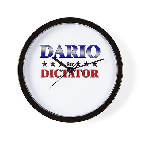 DARIO for dictator Wall Clock