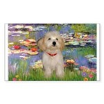 Lilies / Havanese Sticker (Rectangle)
