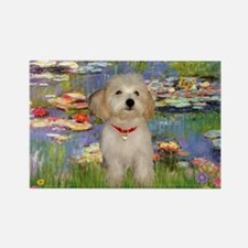 Lilies / Havanese Rectangle Magnet