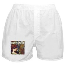 hunt naked Deer hunter gift t Boxer Shorts