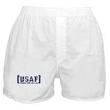 Proud USAF SonNlaw - Tatterd Style Boxer Shorts